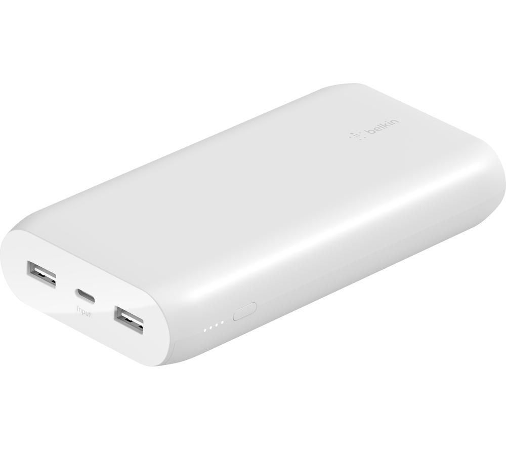 BELKIN 20000 mAh Portable Power Bank - White