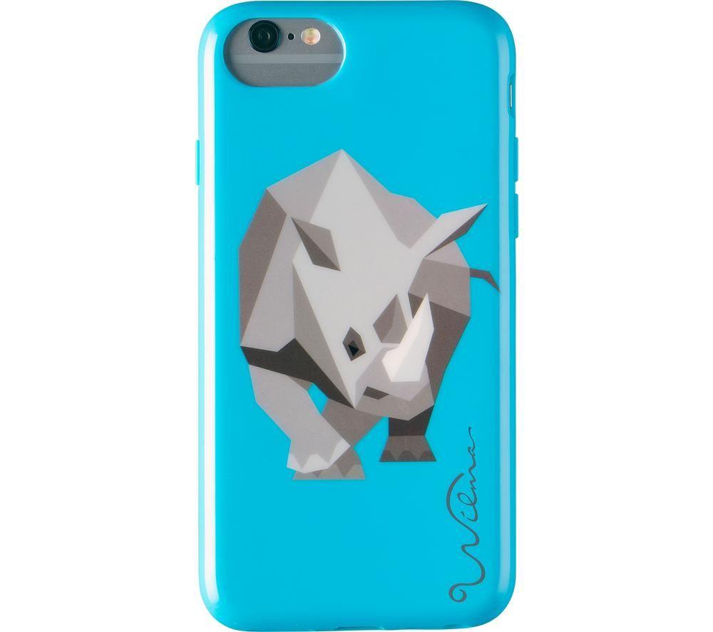 WILMA Electric Savanna Rhino iPhone X / XS Case - Blue