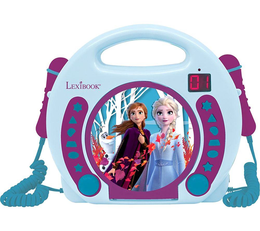 LEXIBOOK RCDK100FZ CD Player with Microphones - Disney Frozen 2