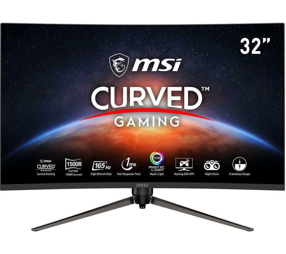 """MSI Optix AG321CR Full HD 32"""" Curved LCD Gaming Monitor - Black"""