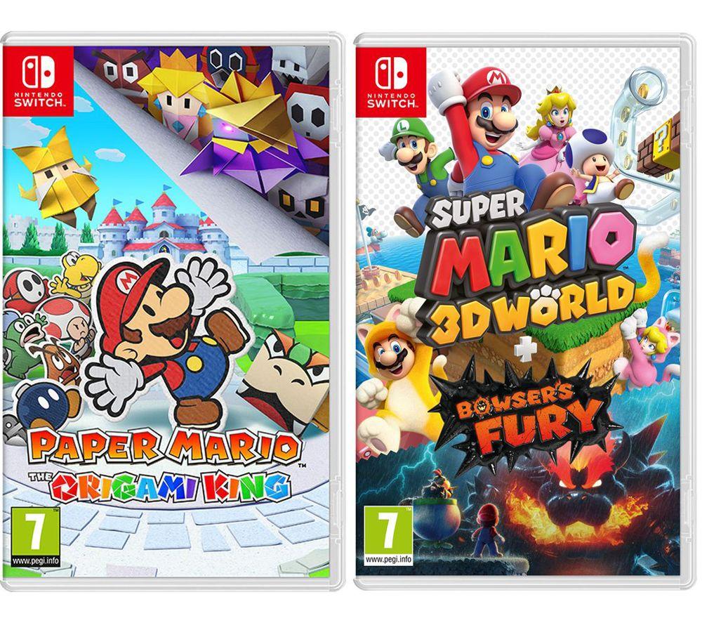 NINTENDO SWITCH Paper Mario & Super Mario 3D World & Bowser's Fury Bundle