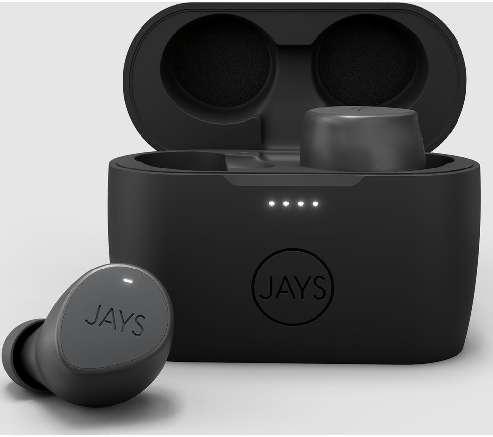 JAYS m-Seven Wireless Bluetooth Earphones - Grey