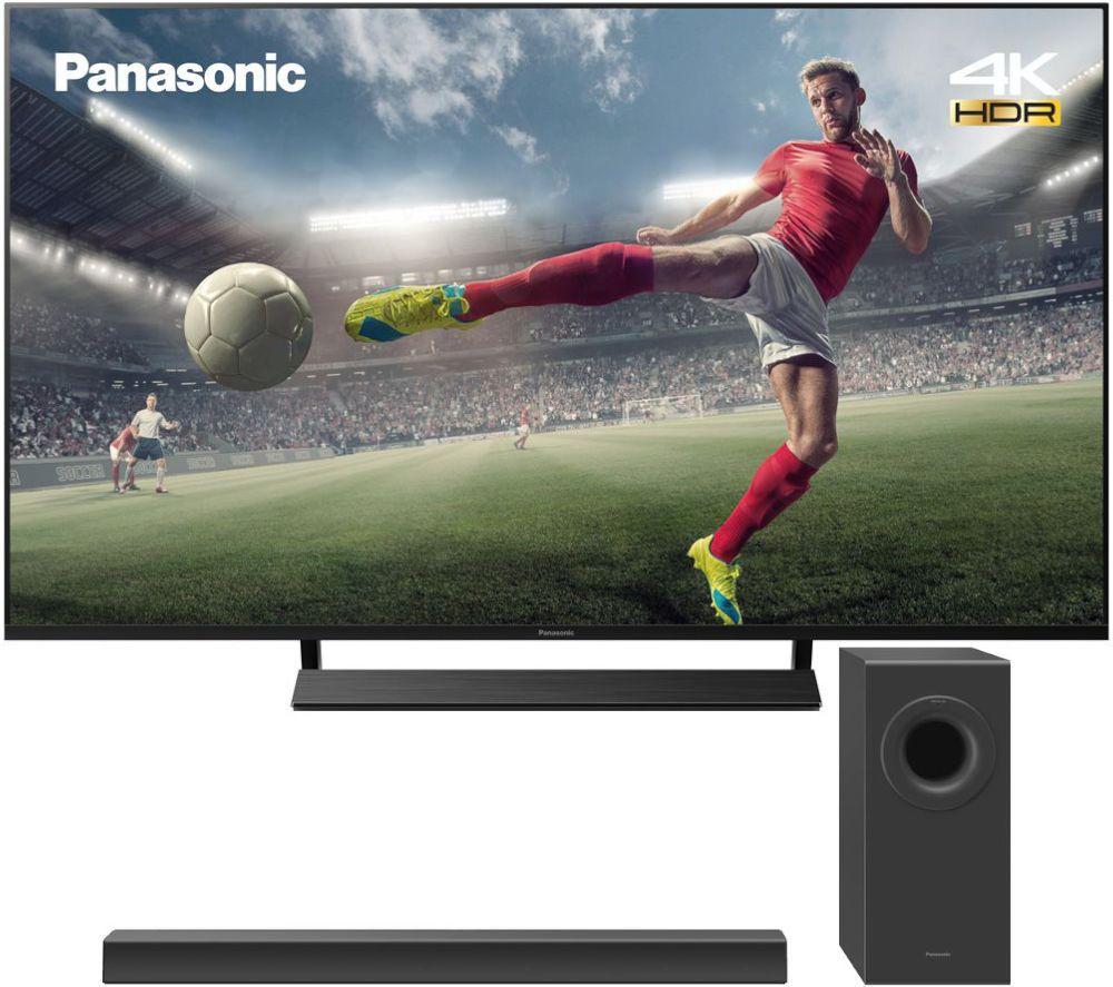 "PANASONIC TX-65JX850B 65"" Smart 4K Ultra HD LED TV & Wireless Soundbar Bundle"