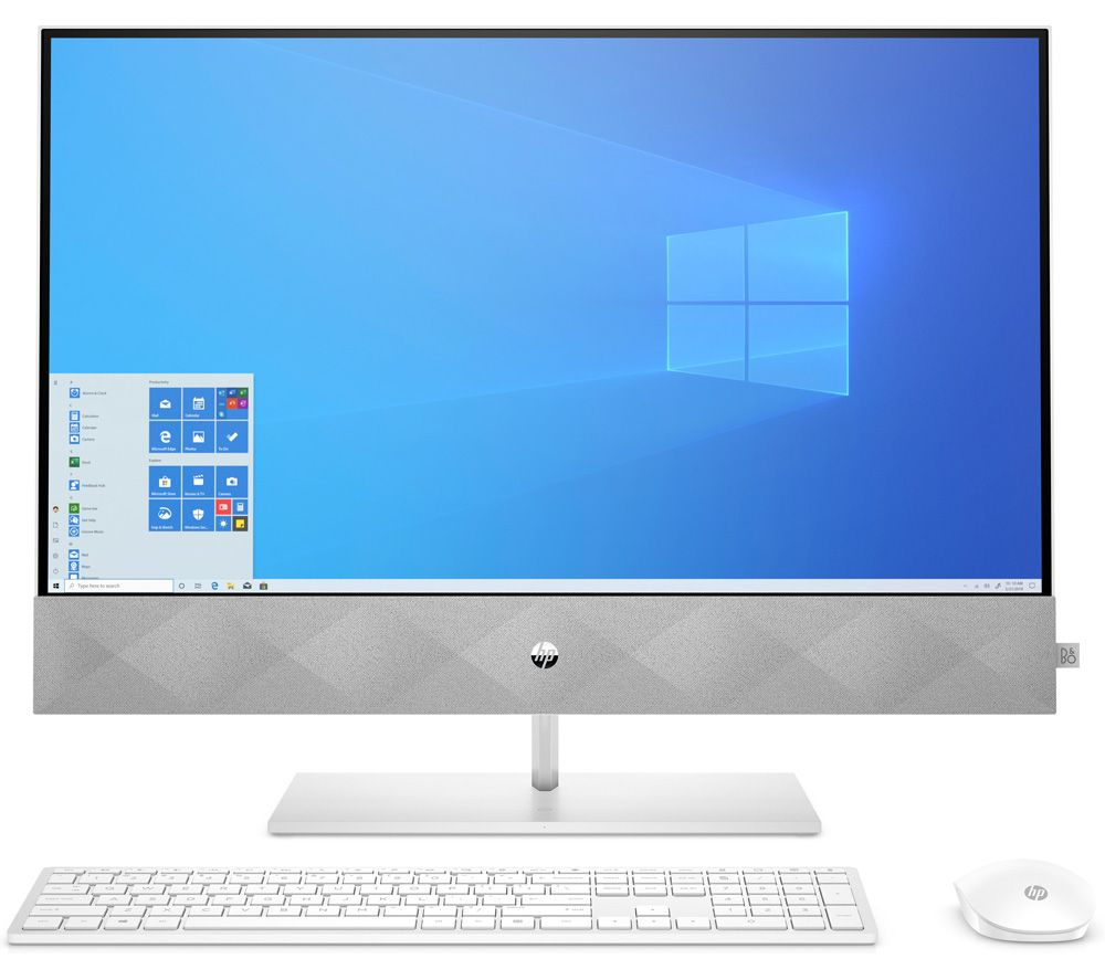 """Image of HP Pavilion 27-d1007na 27"""" All-in-One PC - Intel® Core™ i7, 1 TB SSD, White"""