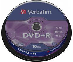 VERBATIM 16x Speed DVD R Blank DVDs