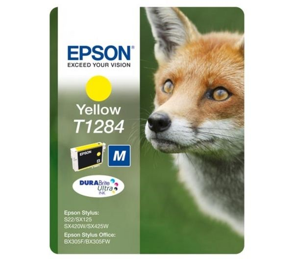 EPSON Fox T1284 Yellow Ink Cartridge