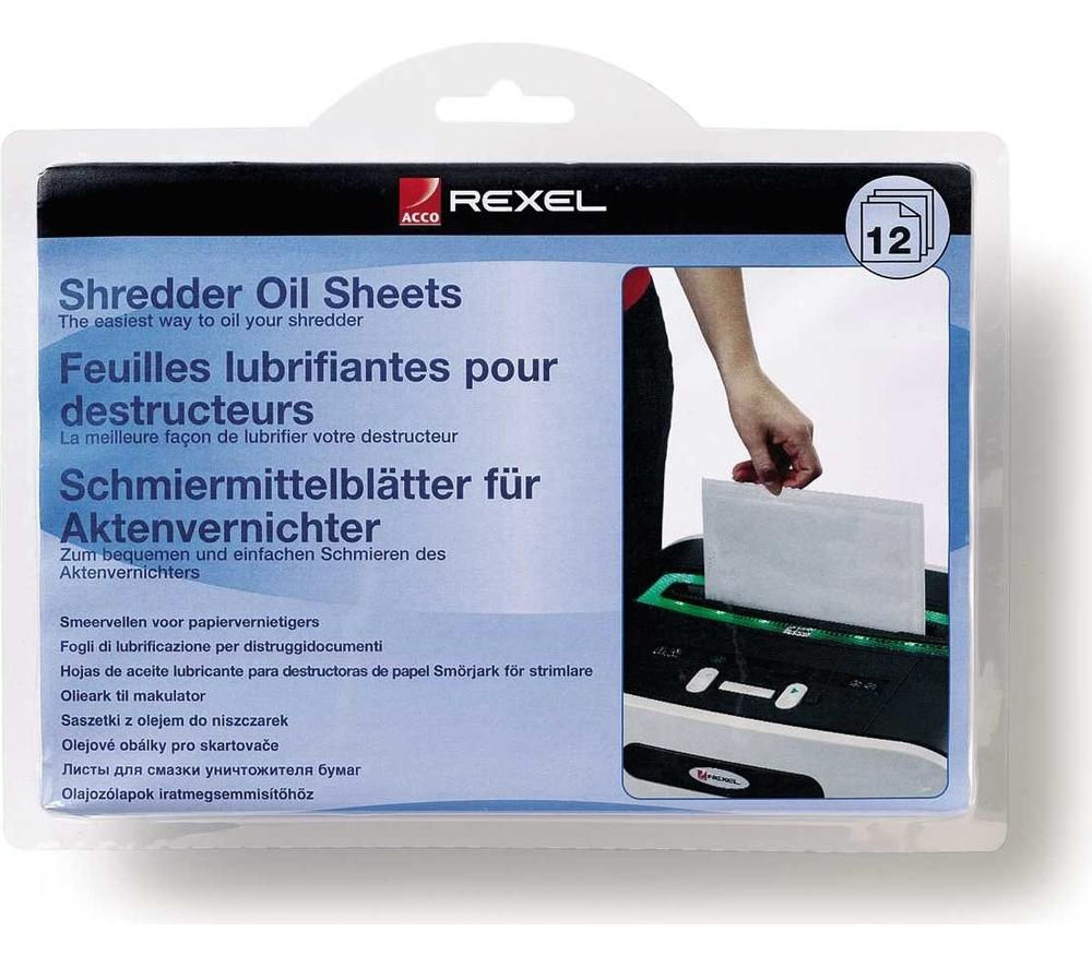 Compare prices for Rexel 2101948 Shredder Oil Sheets