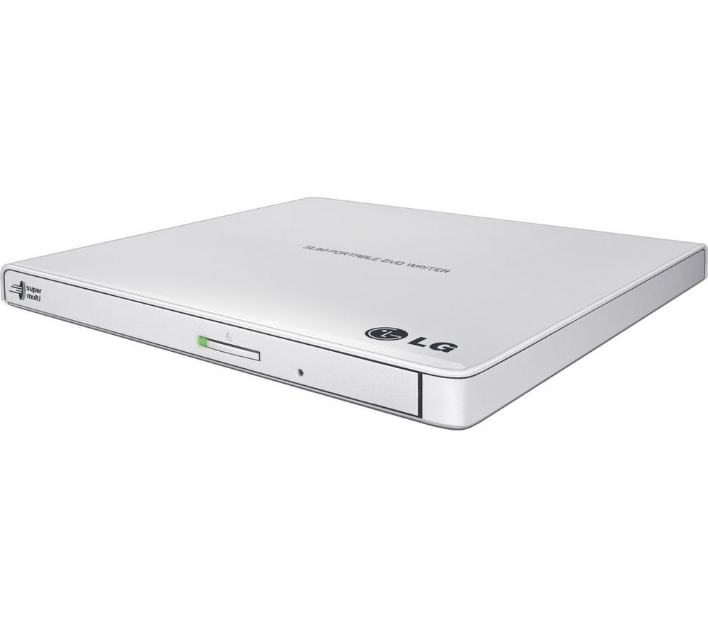 LG GP57EB40 Ultraslim External USB DVD Writer - White