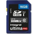 INTEGRAL UltimaPro High Performance Class 10 SDHC Memory Card - 16 GB