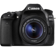 CANON EOS 80D DSLR Camera with 18-55 mm f/3.5-5.6 Lens