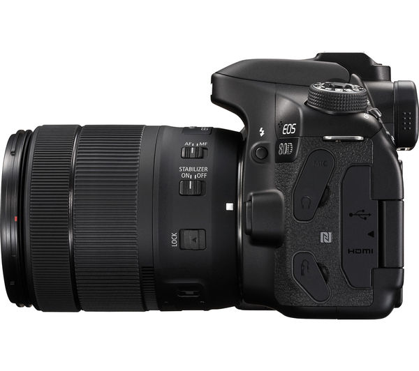 CANON EOS 80D DSLR Camera with 18-55 mm f/3 5-5 6 Lens