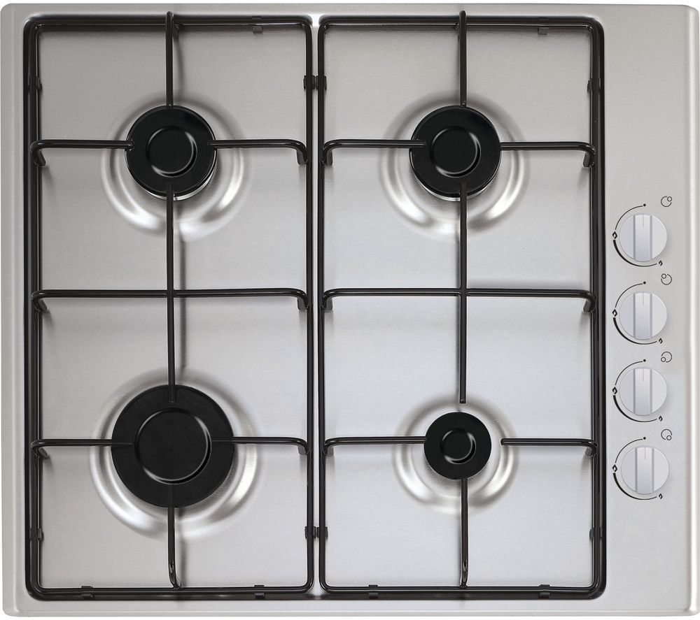 ESSENTIALS  CGHOBX16 Gas Hob - Stainless Steel, Stainless Steel