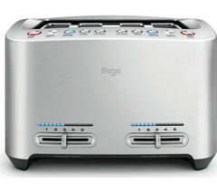 BTA845UK Smart 4-Slice Toaster - Silver