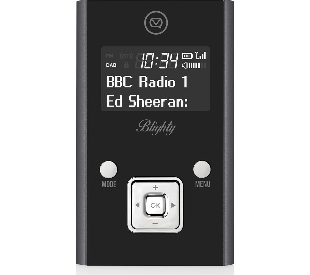 Blighty VQ-PDR-GR Portable DAB+/FM Radio - Black