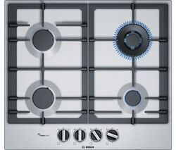 BOSCH Serie 6 PCH6A5B90 Gas Hob - Stainless Steel