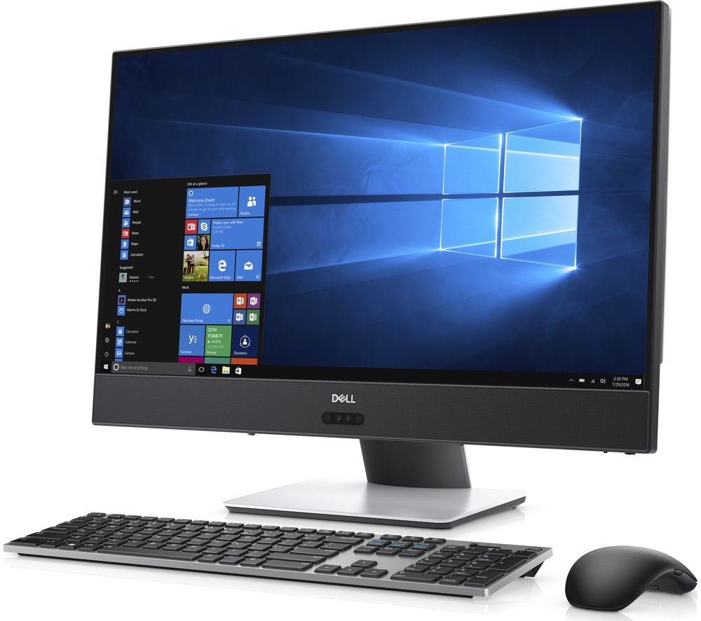 buy dell inspiron 5475 23 8 touchscreen all in one pc metallic white free delivery currys. Black Bedroom Furniture Sets. Home Design Ideas
