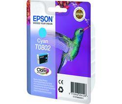 EPSON T0802 Hummingbird Cyan Ink Cartridge