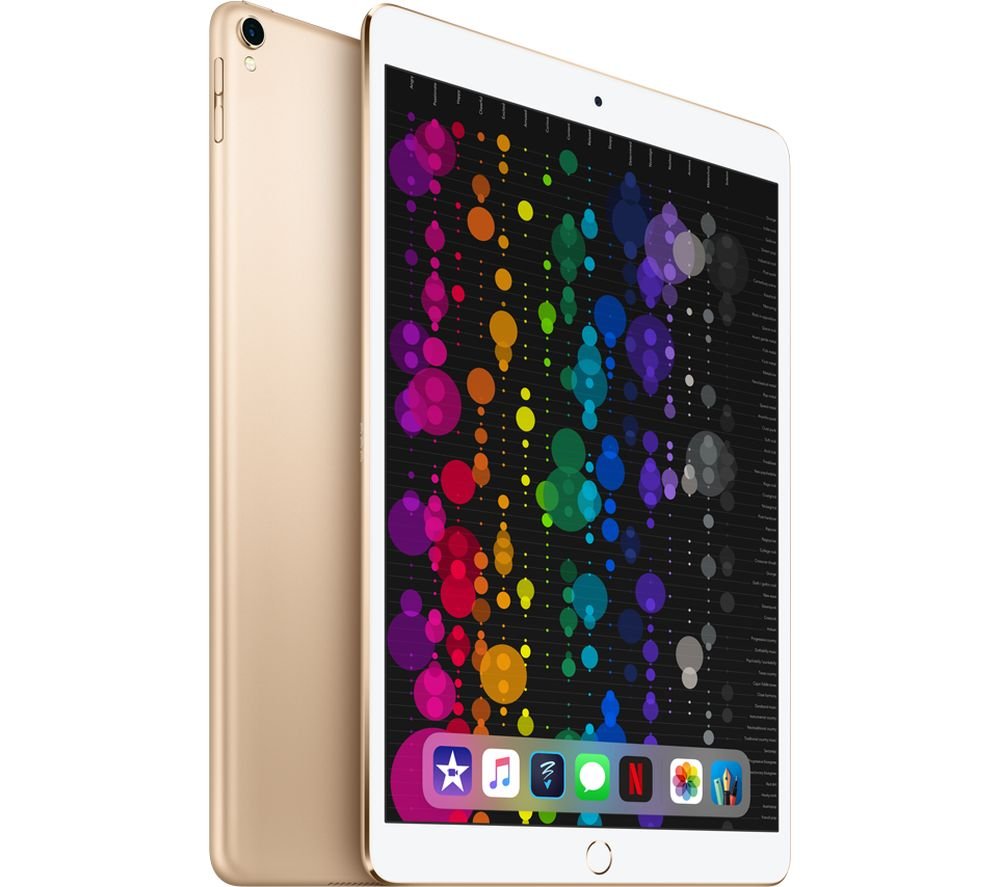 "APPLE 10.5"" iPad Pro Cellular - 512 GB, Gold (2017) + Lightning to USB Cable - 1 metre"
