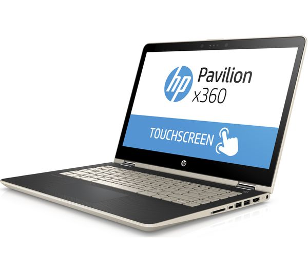 buy hp pavilion x360 14 ba150sa 14 2 in 1 gold free delivery currys. Black Bedroom Furniture Sets. Home Design Ideas