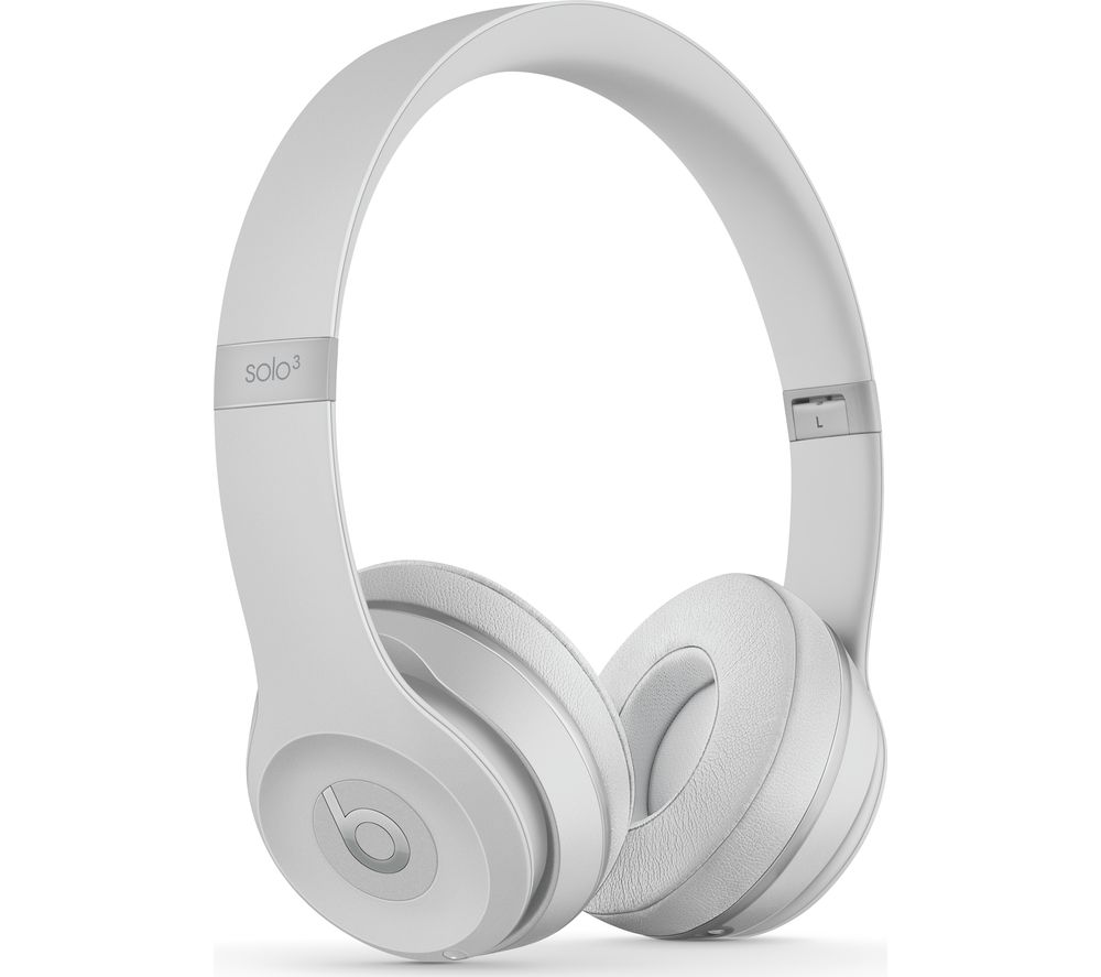 Compare retail prices of Beats Solo 3 Wireless Bluetooth Headphones - Matte Silver to get the best deal online