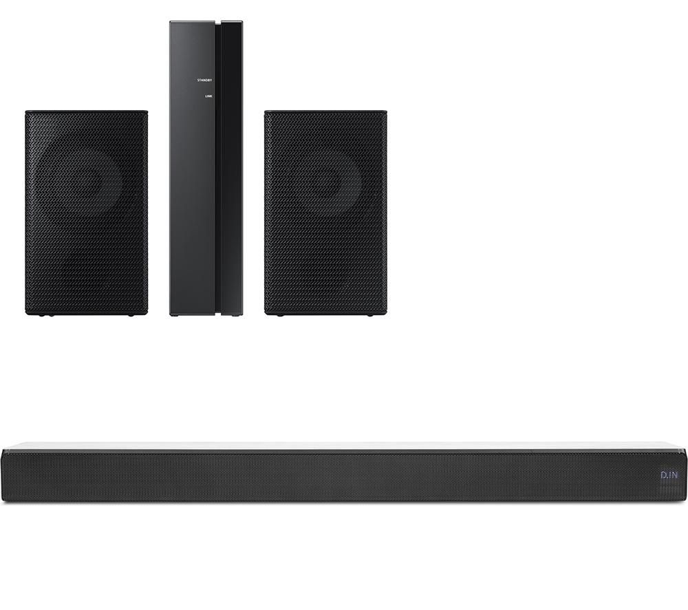 SAMSUNG Sound HW-MS550 2.1 All-in-One Sound Bar & Wireless Rear Speaker Kit Bundle