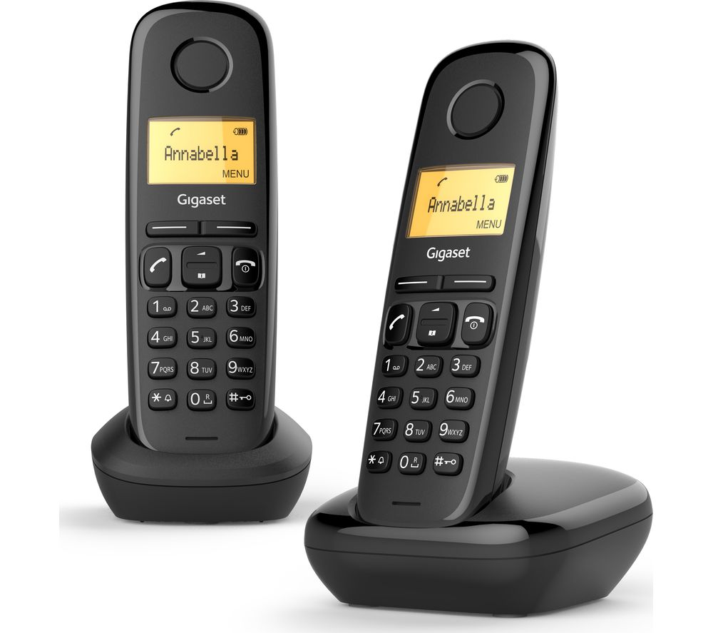 buy gigaset a170 cordless phone twin handsets free. Black Bedroom Furniture Sets. Home Design Ideas