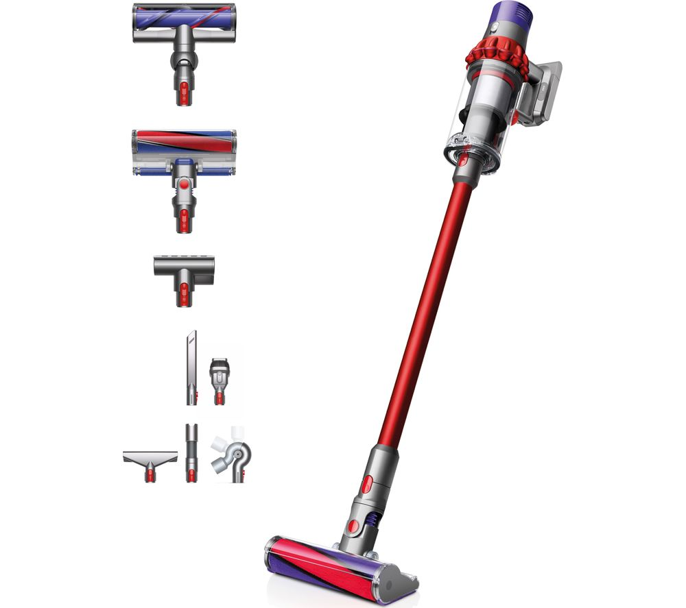 Image of Dyson Cyclone V10 Total Clean Cordless Vacuum Cleaner - Red, Red