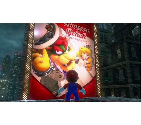 NINTENDO Switch Neon Red & Super Mario Odyssey