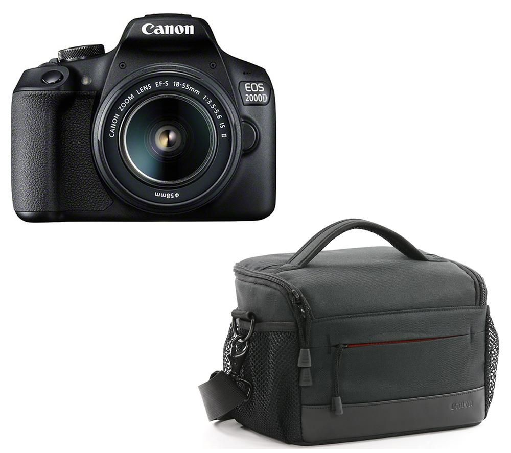 Click to view product details and reviews for Canon Eos 2000d Dslr Camera Ef S 18 55 Mm F 35 56 Is Ii Lens Es100 Dslr Camera Bag Bundle.