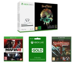 MICROSOFT Xbox One S, Sea of Thieves, Mafia III Deluxe Edition, Killer Instinct Combo Breaker Pack & Xbox LIVE Gold Bundle