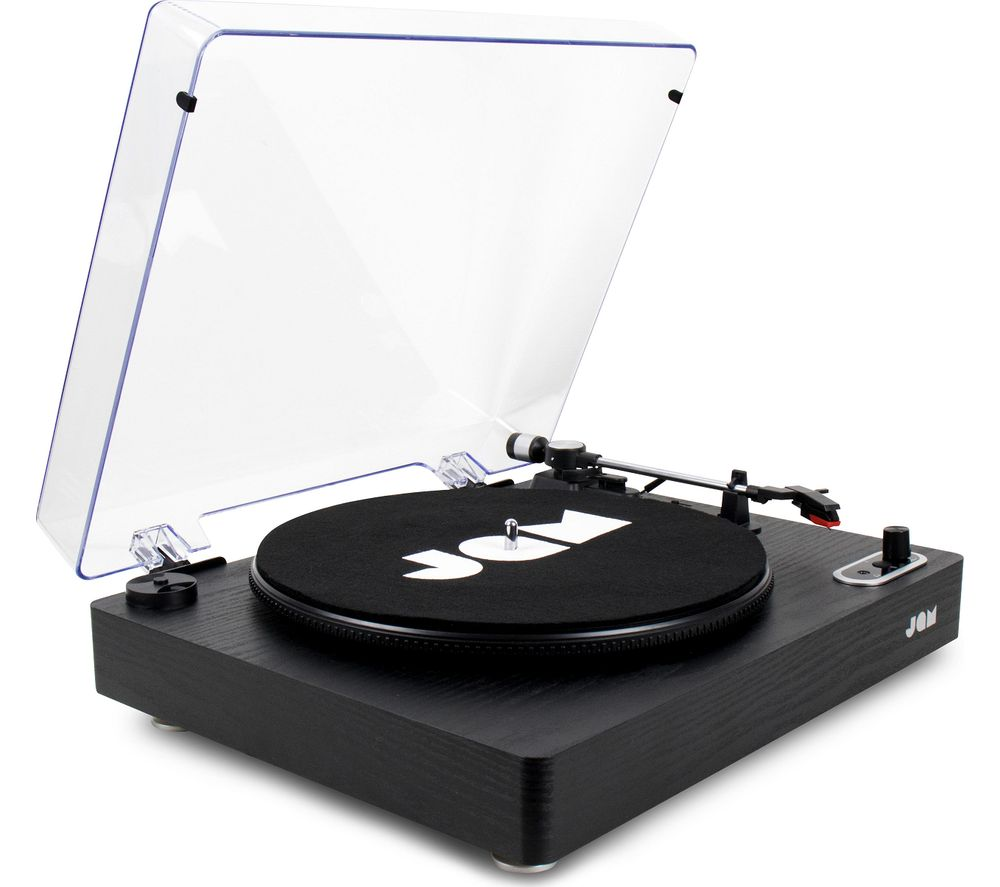 Jam Play Stream HX-TT500BWD Belt Drive Bluetooth Turntable - Black, Black