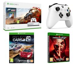 MICROSOFT Xbox One S, Forza Horizon 4, Tekken 7, Project Cars 2 & Wireless Controller Bundle