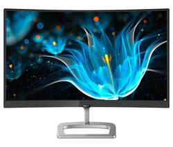 "PHILIPS 248E9QHSB Full HD 23.6"" Curved LED Monitor - Black"
