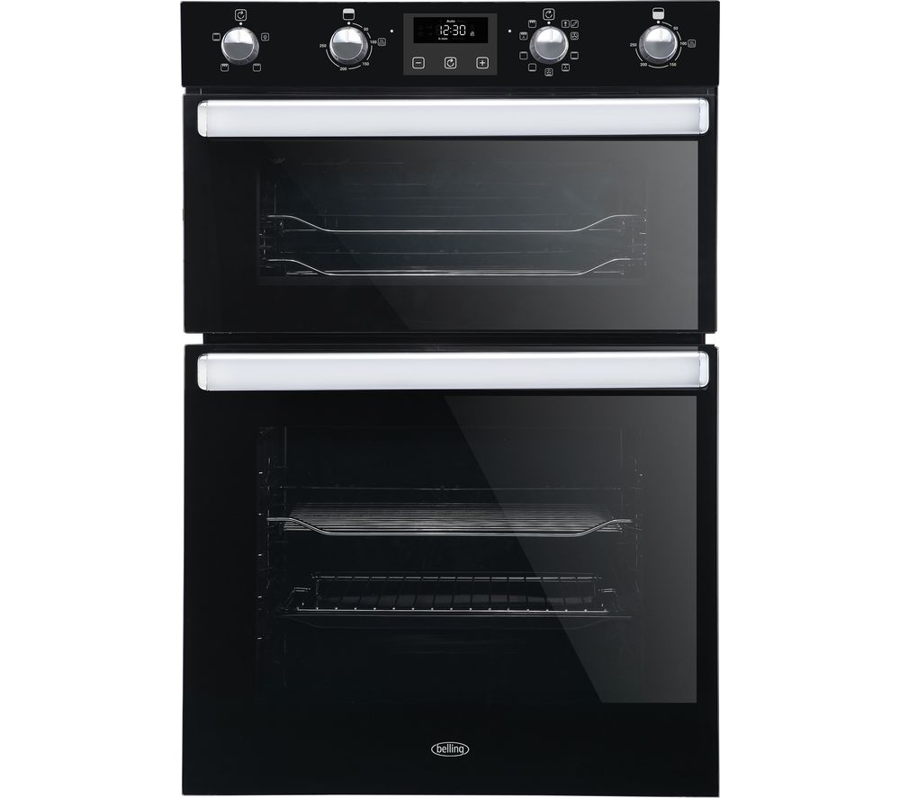 BELLING BI902MFCT Electric Double Smart Oven - Black