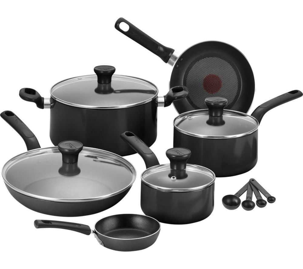TEFAL Excite B184S744 7-piece Non-stick Cookware Set - Black