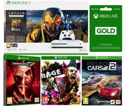 MICROSOFT Xbox One S, Anthem, Rage 2, Project Cars, Tekken 7 & 3 Months LIVE Gold Bundle