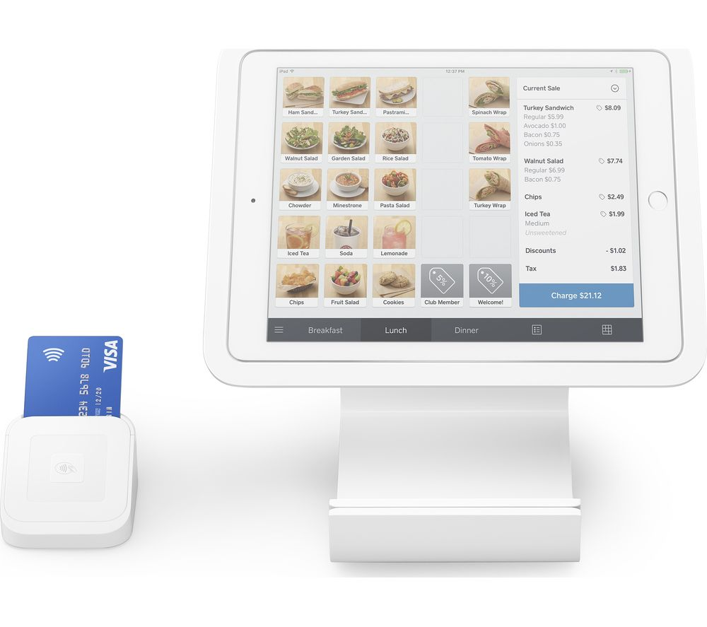 SQUARE Stand with Card Reader & Dock Bundle