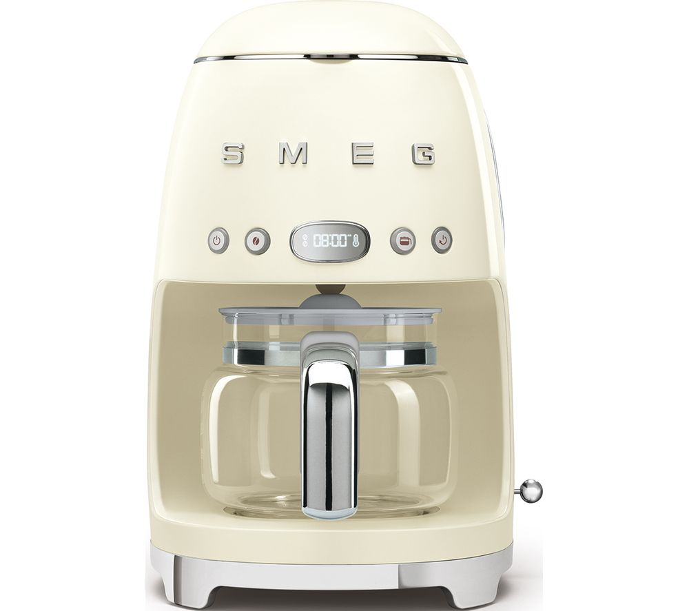 50's Retro DCF02PBUK Filter Coffee Machine – Cream, Cream
