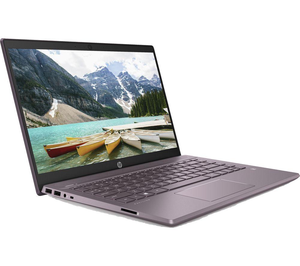 "HP Pavilion 14-ce0524 14"" Laptop - Intel® Pentium™ Gold, 128 GB SSD, Purple"