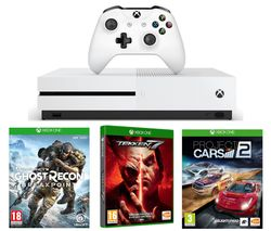 MICROSOFT Xbox One S, Tom Clancy's Ghost Recon Breakpoint, Tekken 7 & Project Cars 2 Bundle - 1 TB
