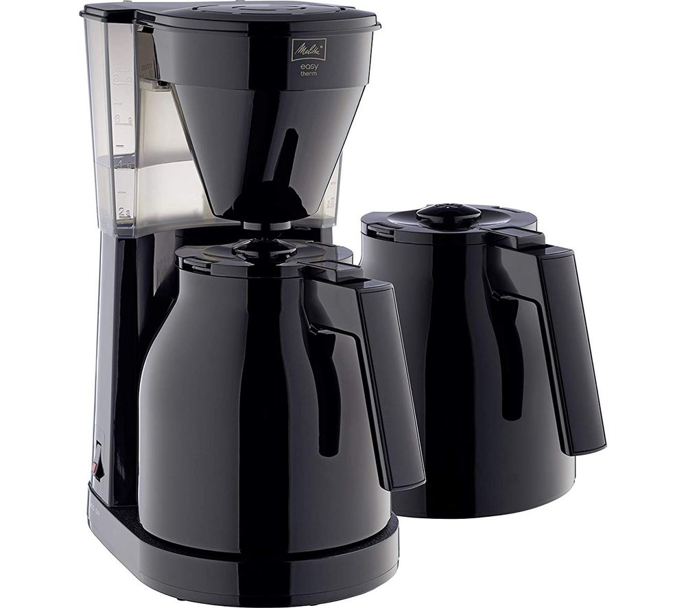 Image of MELITTA Easy Top Therm II Filter Coffee Machine with Spare Jug - Black, Black