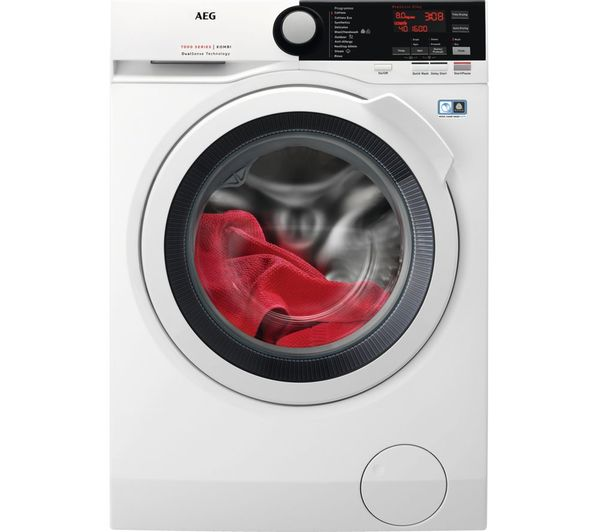 Image of AEG 7000 Series L7WEE861R 8 kg Washer Dryer - White