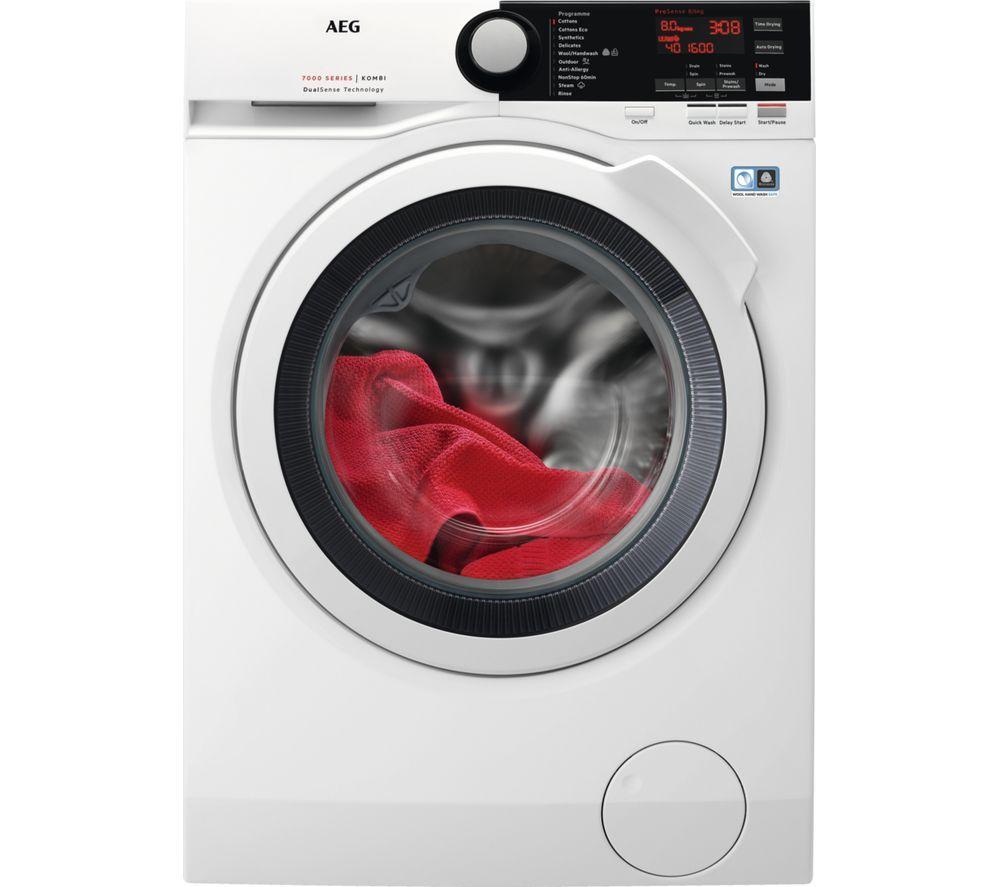 AEG 7000 Series L7WEE861R 8 kg Washer Dryer - White