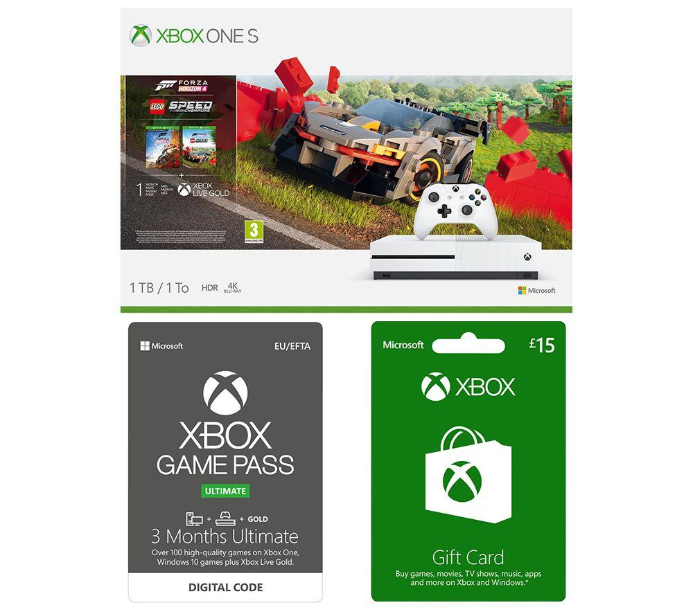 MICROSOFT Xbox One S, Forza Horizon, LEGO Speed Champions, Xbox Live £15 Gift Card & Xbox One Game Pass Bundle