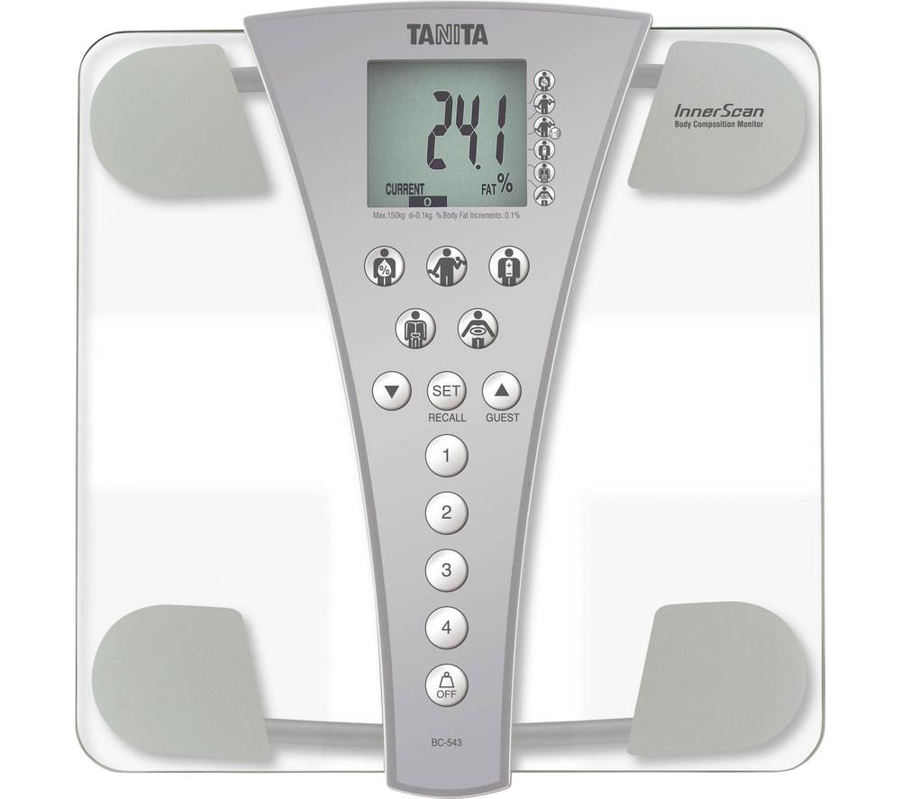 TANITA InnerScan BC-543 Electronic Bathroom Scales - Grey & Transparent, Grey
