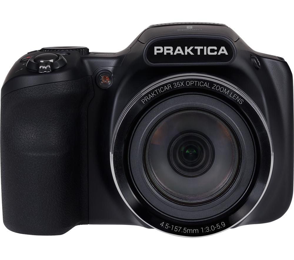 PRAKTICA Luxmedia Z35-BK Bridge Camera - Black, Black