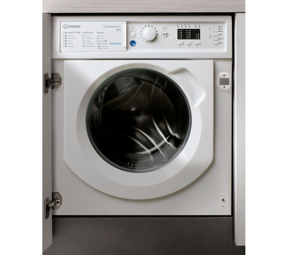 INDESIT BIWMIL81284 Integrated 8 kg 1200 Spin Washing Machine