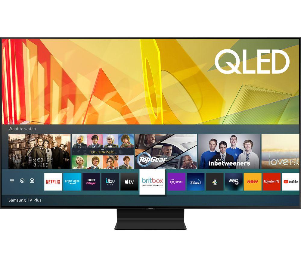 """SAMSUNG QE55Q90TATXXU 55"""" Smart 4K Ultra HD HDR QLED TV with Bixby, Alexa & Google Assistant"""