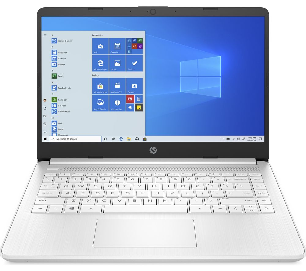 "HP Stream 14s-fq0510sa 14"" Laptop - AMD 3020e, 64 GB eMMC, White"