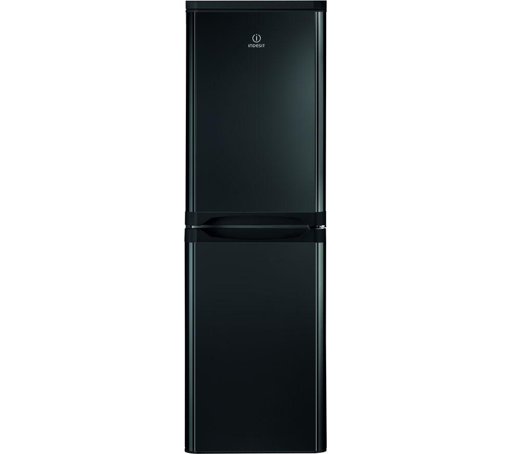INDESIT IBD 5517 B UK 1 50/50 Fridge Freezer - Black, Black